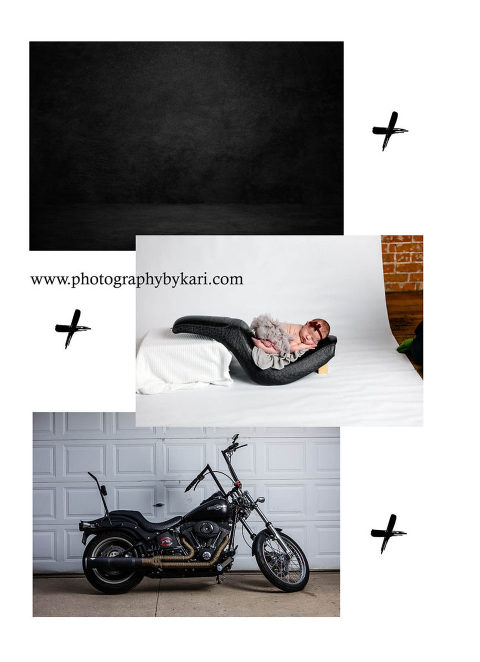 Images used to make a composite newborn edit by Photography by Kari