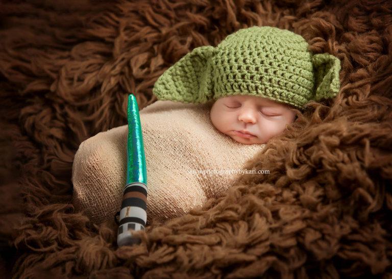 Star Wars newborn photo