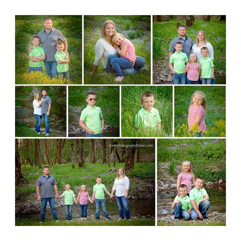 collage of mn family portrait session